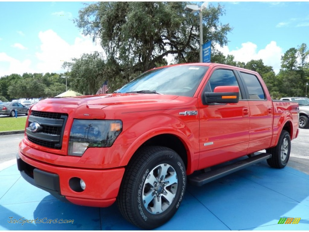 2013 Ford F150 Fx2 Supercrew In Race Red D23500 Jax