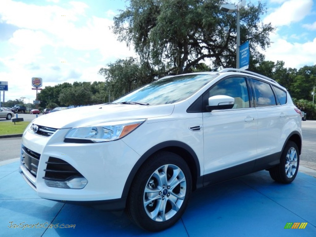 2014 ford escape titanium 2 0l ecoboost in white platinum a82039 jax sports cars cars for. Black Bedroom Furniture Sets. Home Design Ideas