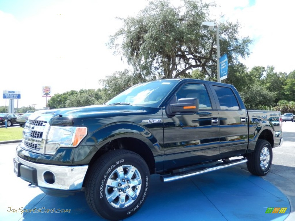 2013 Ford F150 Xlt Supercrew 4x4 In Green Gem Metallic