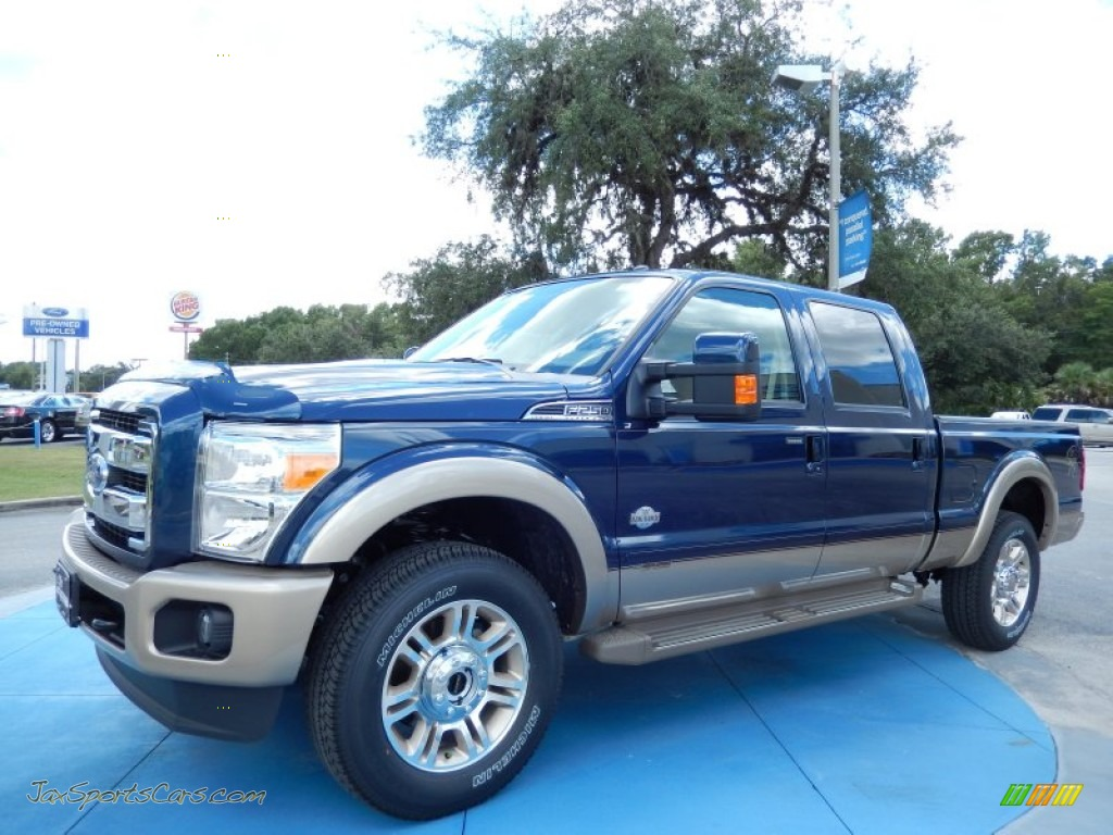 Blue jeans metallic king ranch chaparral leather adobe trim ford f250 super duty king