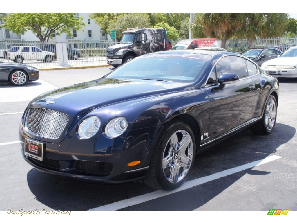 2006 bentley continental gt in dark sapphire 037876 jax sports. Cars Review. Best American Auto & Cars Review