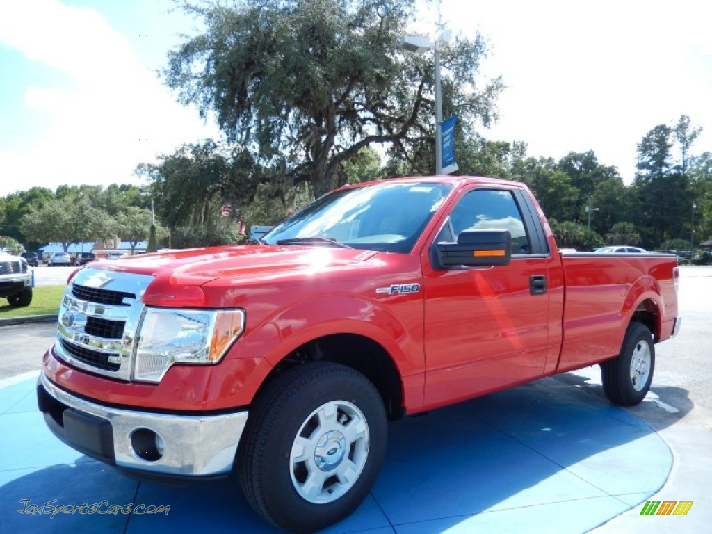 2013 ford f150 xlt regular cab in race red f76410 jax sports cars cars for sale in florida. Black Bedroom Furniture Sets. Home Design Ideas