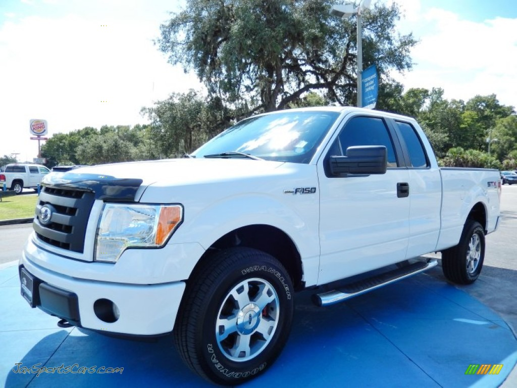 2010 ford f150 stx supercab 4x4 in oxford white a98918 jax sports cars cars for sale in. Black Bedroom Furniture Sets. Home Design Ideas