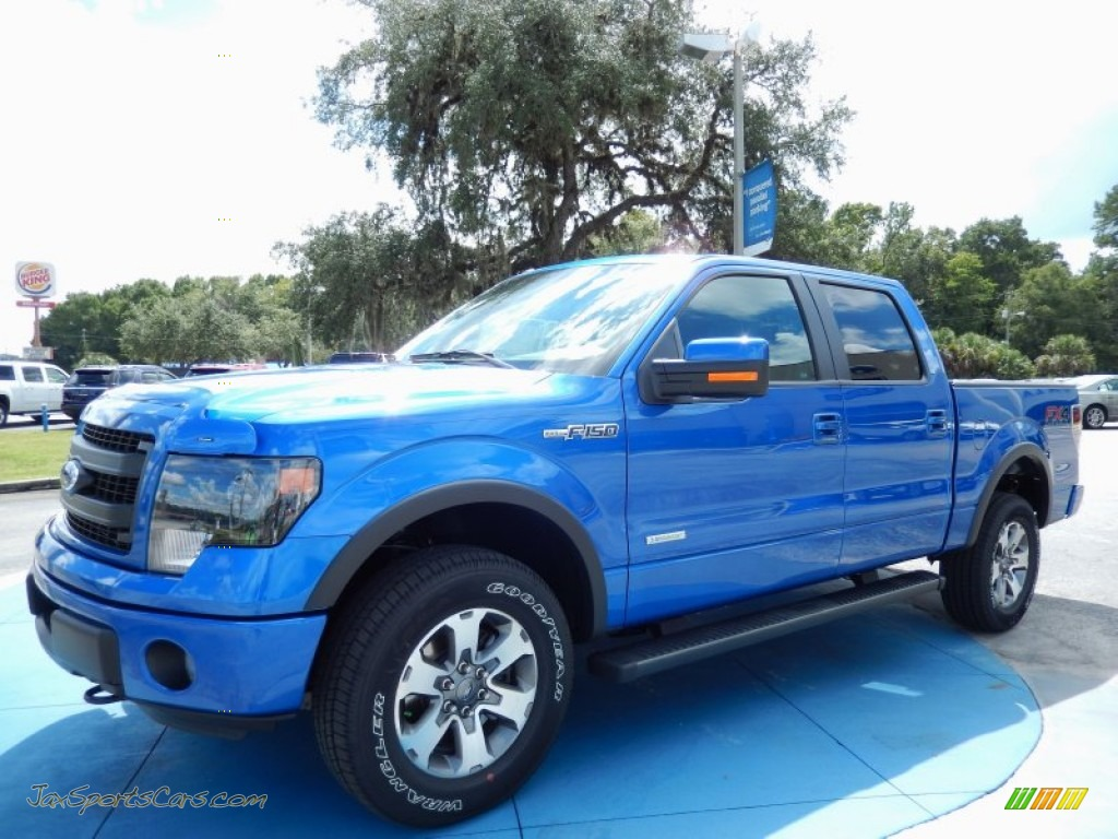 2013 Ford F150 Fx4 Supercrew 4x4 In Blue Flame Metallic
