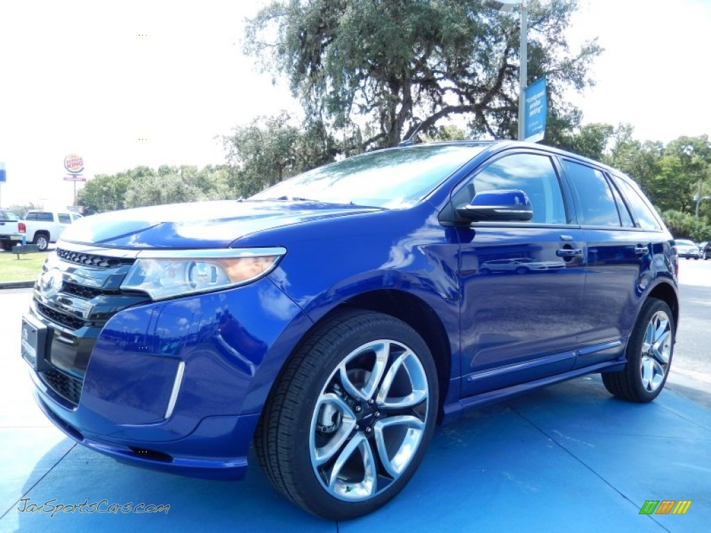 2013 ford edge sport in deep impact blue metallic c97163 jax sports cars cars for sale in. Black Bedroom Furniture Sets. Home Design Ideas
