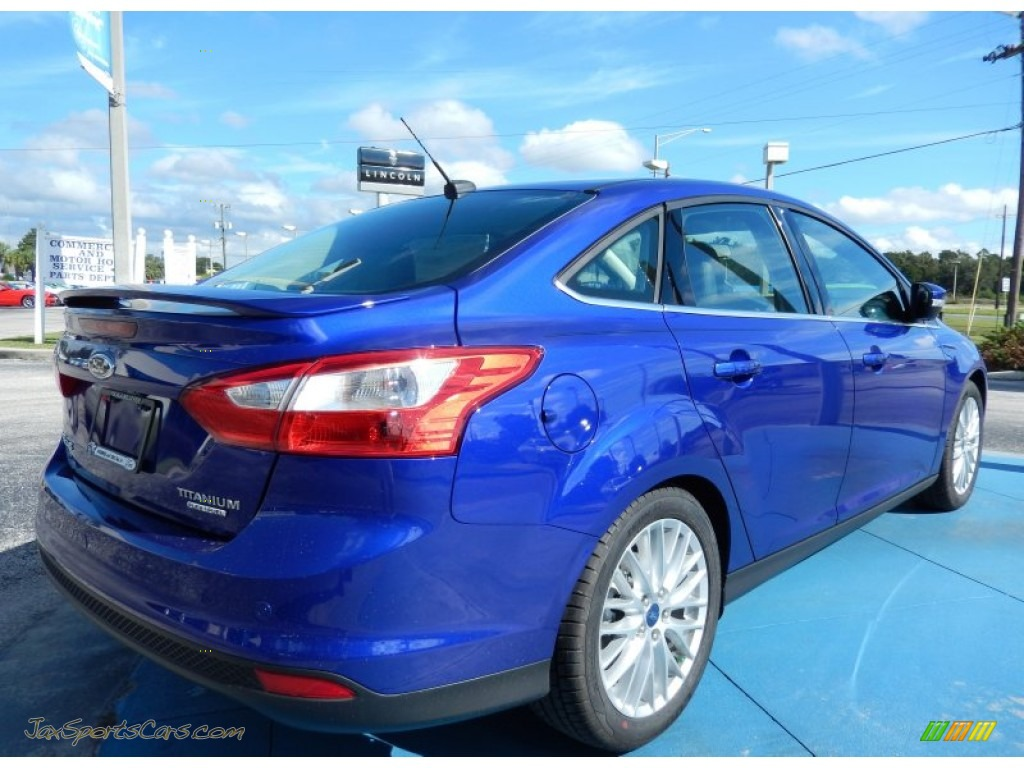 2014 ford focus titanium sedan in performance blue photo 3 166035 jax sports cars cars. Black Bedroom Furniture Sets. Home Design Ideas