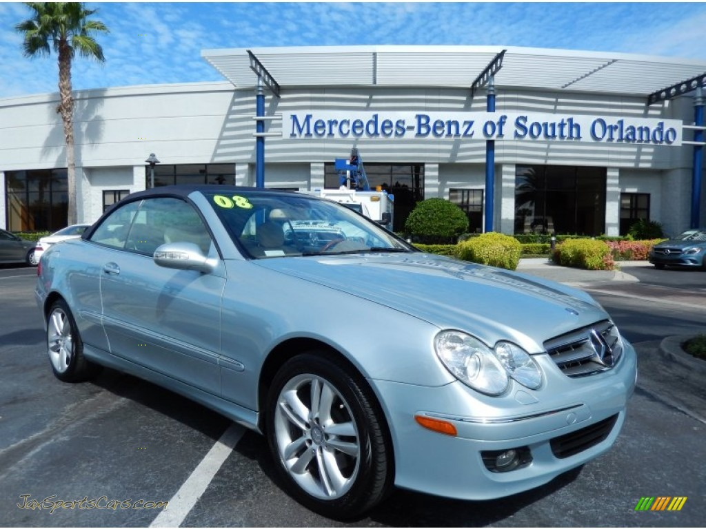 2008 mercedes benz clk 350 cabriolet in diamond silver metallic 089535 jax sports cars. Black Bedroom Furniture Sets. Home Design Ideas
