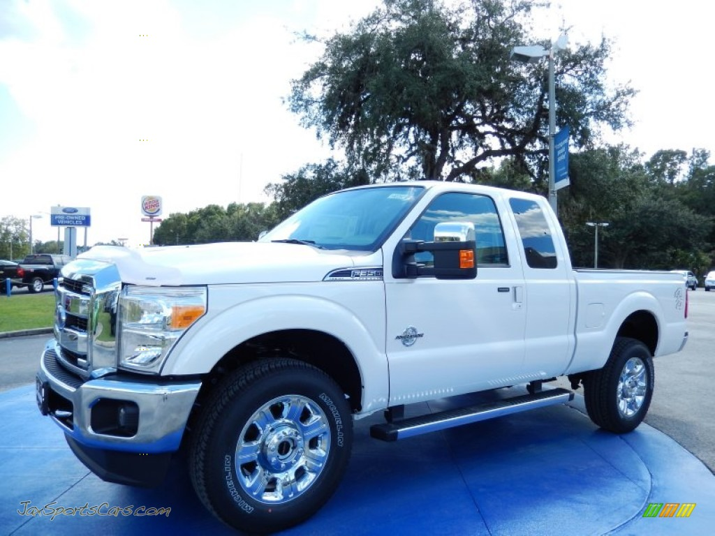 2014 Ford F350 Super Duty Lariat Supercab 4x4 In White