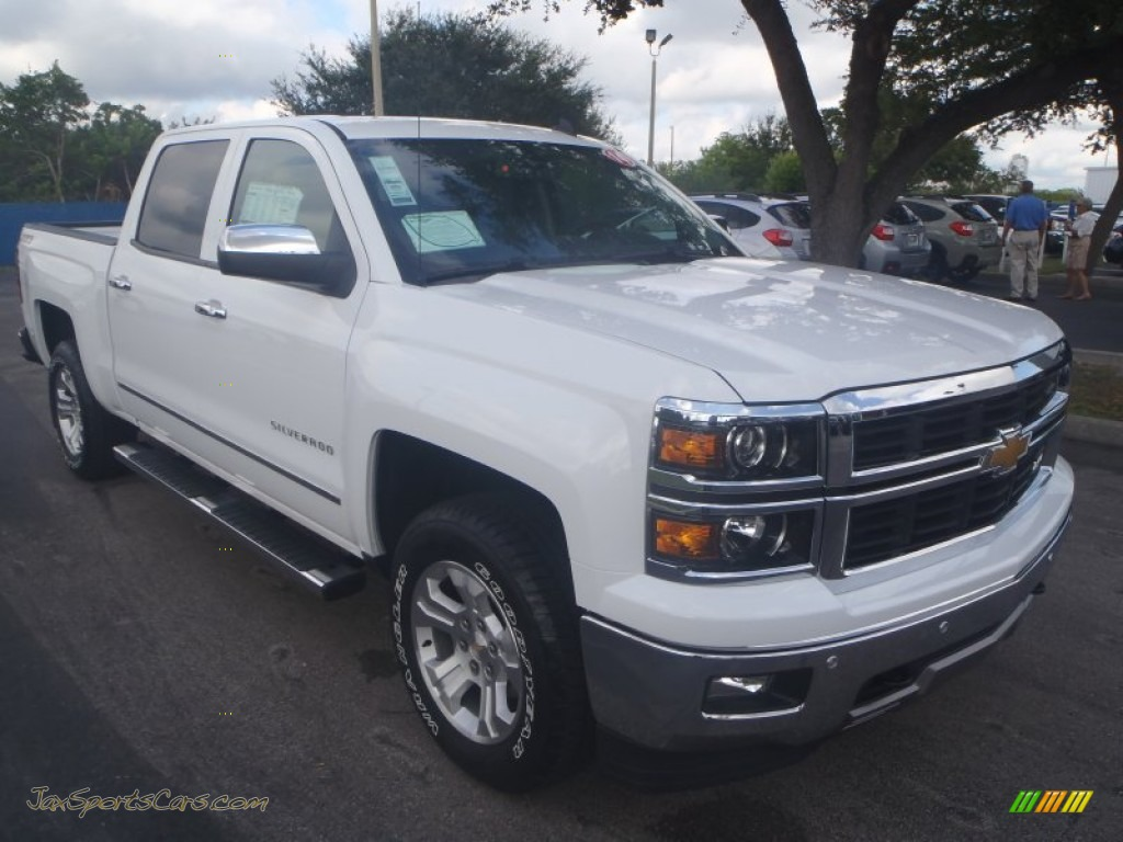 2014 chevrolet silverado 1500 ltz crew cab 4x4 in summit white 239139 jax sports cars cars. Black Bedroom Furniture Sets. Home Design Ideas