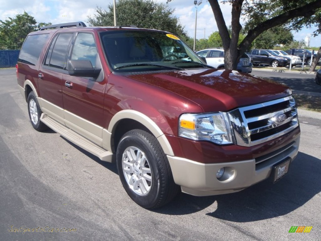 Royal red metallic camel ford expedition el xlt