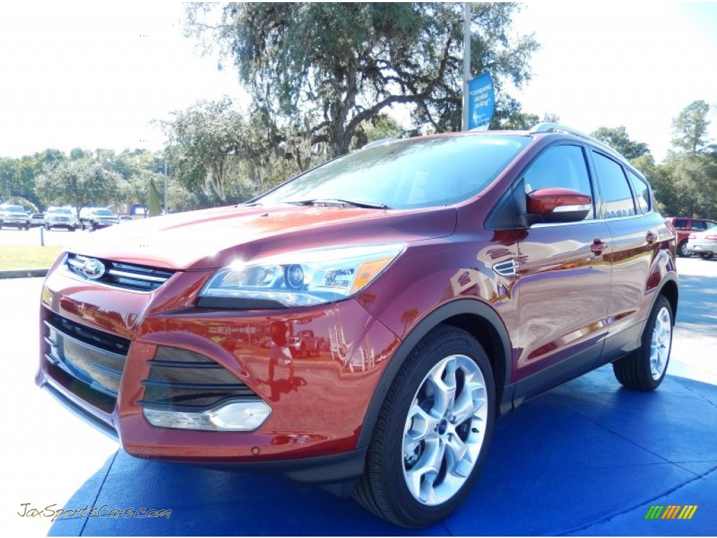 2014 ford escape titanium 2 0l ecoboost in sunset b23453 jax sports cars cars for sale in. Black Bedroom Furniture Sets. Home Design Ideas