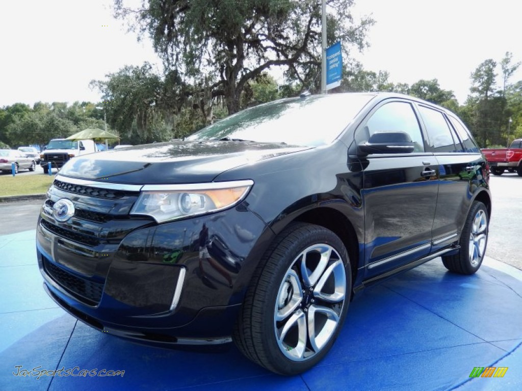 2013 ford edge sport in tuxedo black metallic e06335 jax sports cars cars for sale in florida. Black Bedroom Furniture Sets. Home Design Ideas