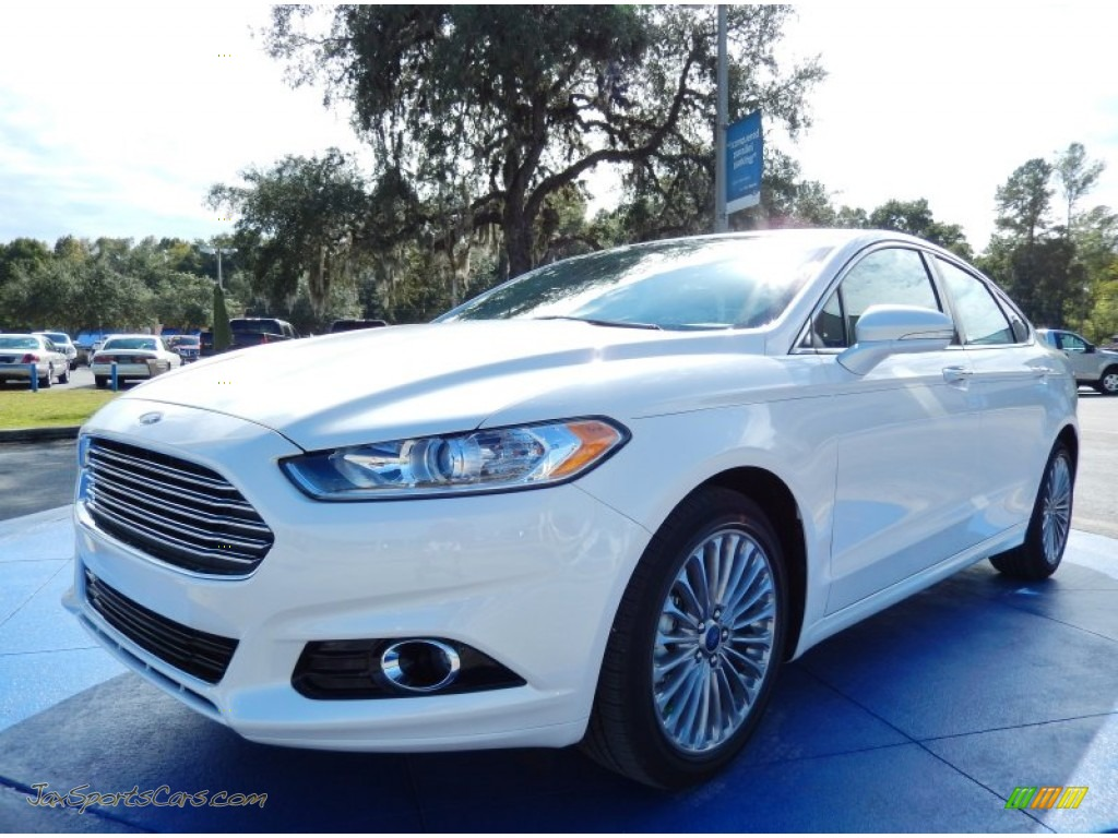 2014 ford fusion titanium in white platinum 182644 jax sports cars cars for sale in florida. Black Bedroom Furniture Sets. Home Design Ideas