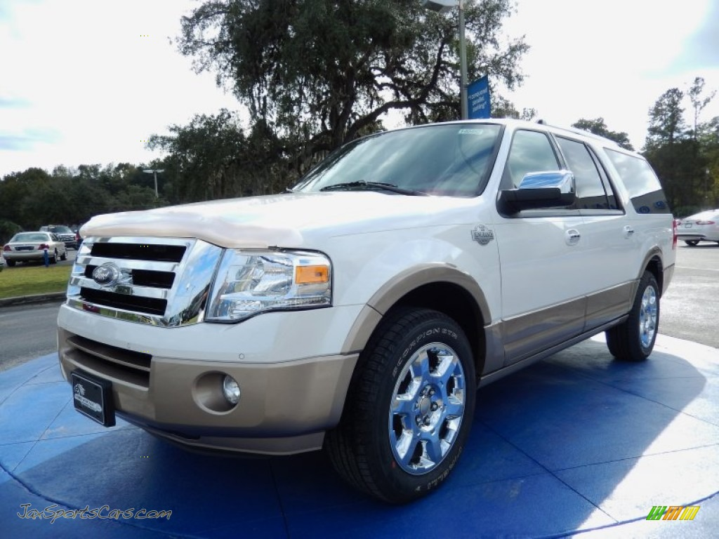 2014 ford expedition el king ranch in white platinum f16136 jax sports cars cars for sale. Black Bedroom Furniture Sets. Home Design Ideas