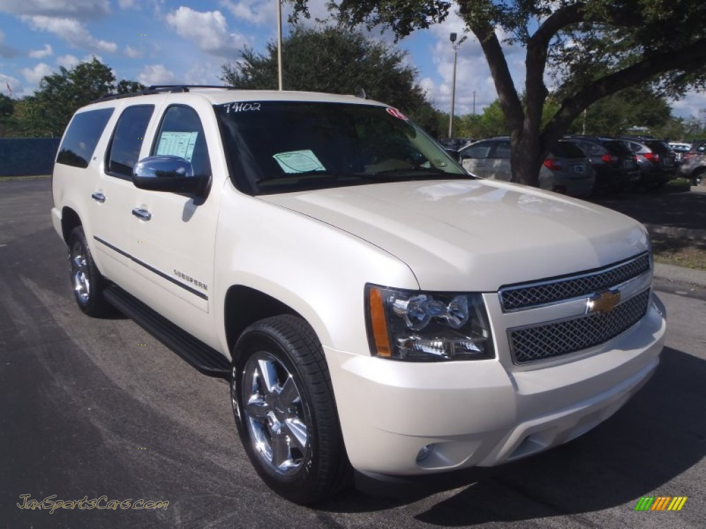 2014 chevrolet suburban ltz in white diamond tricoat 209164 jax sports cars cars for sale. Black Bedroom Furniture Sets. Home Design Ideas