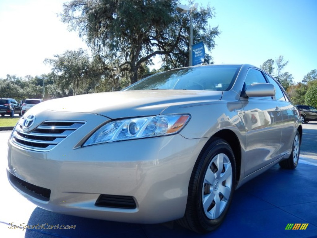 2009 toyota camry hybrid in desert sand metallic 075161 jax sports cars cars for sale in. Black Bedroom Furniture Sets. Home Design Ideas