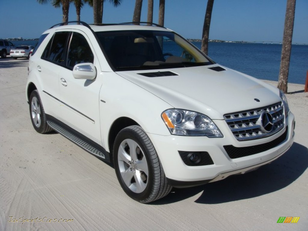 2009 mercedes benz ml 320 bluetec 4matic in arctic white 478679 jax sports cars cars for. Black Bedroom Furniture Sets. Home Design Ideas
