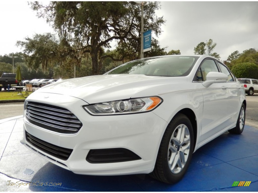 2014 ford fusion se ecoboost in oxford white 374491 jax sports cars cars for sale in florida. Black Bedroom Furniture Sets. Home Design Ideas