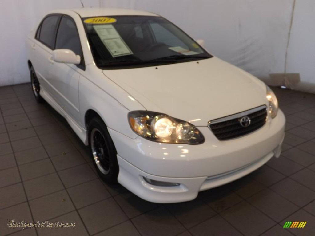 2007 Toyota Corolla S in Super White - 850332   Jax Sports ...