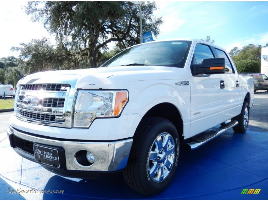 2014 ford f150 xlt supercrew in oxford white a59549 jax sports cars cars for sale in florida. Black Bedroom Furniture Sets. Home Design Ideas