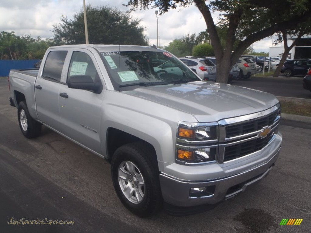 2014 chevrolet silverado 1500 lt z71 crew cab 4x4 in silver ice metallic 235096 jax sports. Black Bedroom Furniture Sets. Home Design Ideas