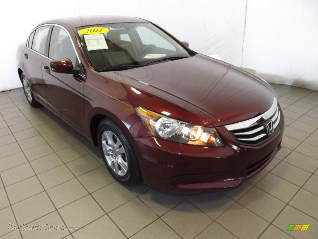 2011 Honda Accord Lx P Sedan In Basque Red Pearl 096661