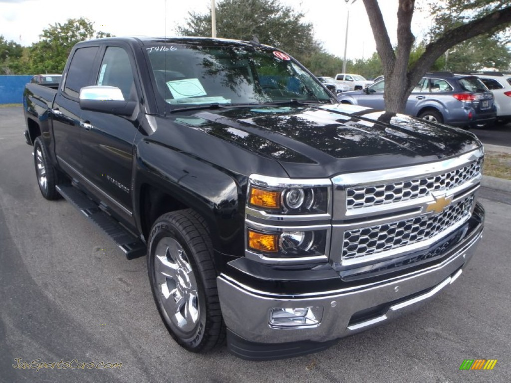 2014 chevrolet silverado 1500 ltz crew cab in black 316166 jax sports cars cars for sale. Black Bedroom Furniture Sets. Home Design Ideas