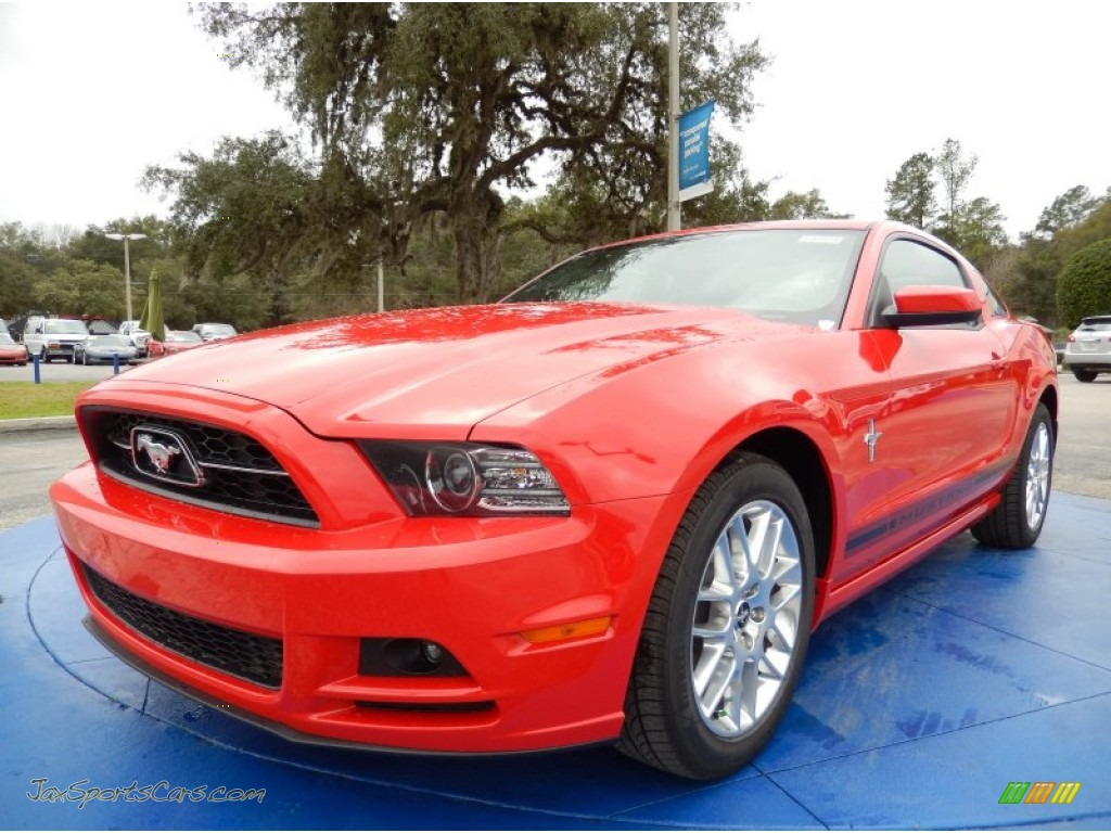 2014 ford mustang v6 premium coupe in race red 283100 jax sports cars cars for sale in florida. Black Bedroom Furniture Sets. Home Design Ideas