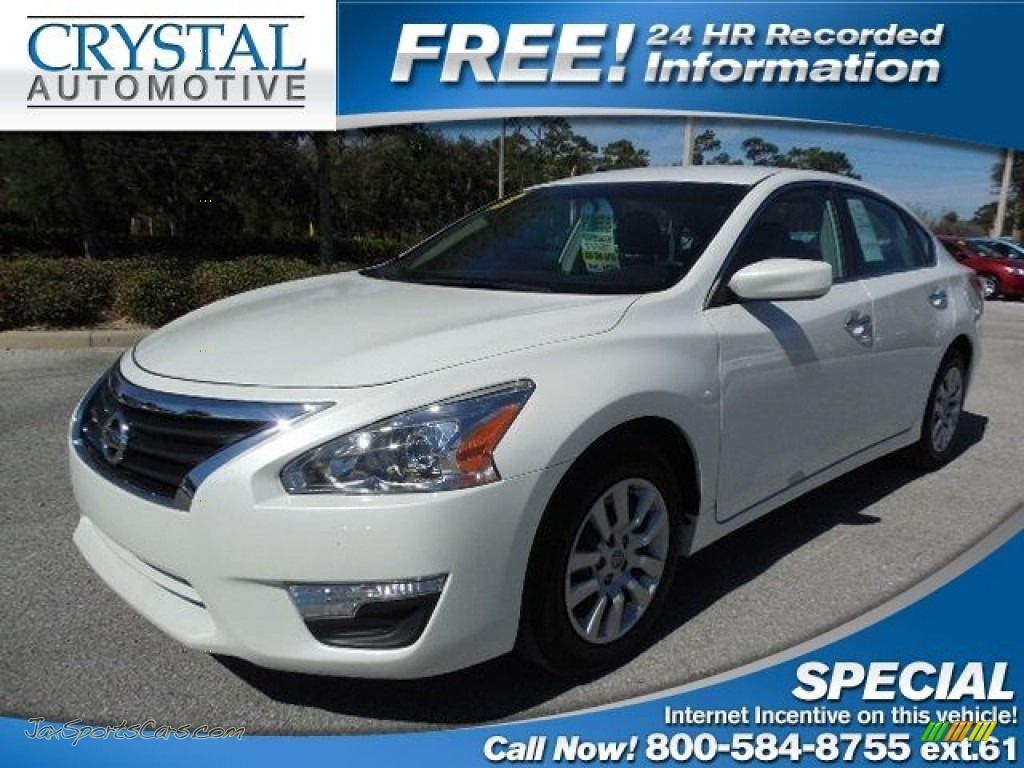 2013 nissan altima 2 5 s in pearl white 168469 jax sports cars cars for sale in florida. Black Bedroom Furniture Sets. Home Design Ideas