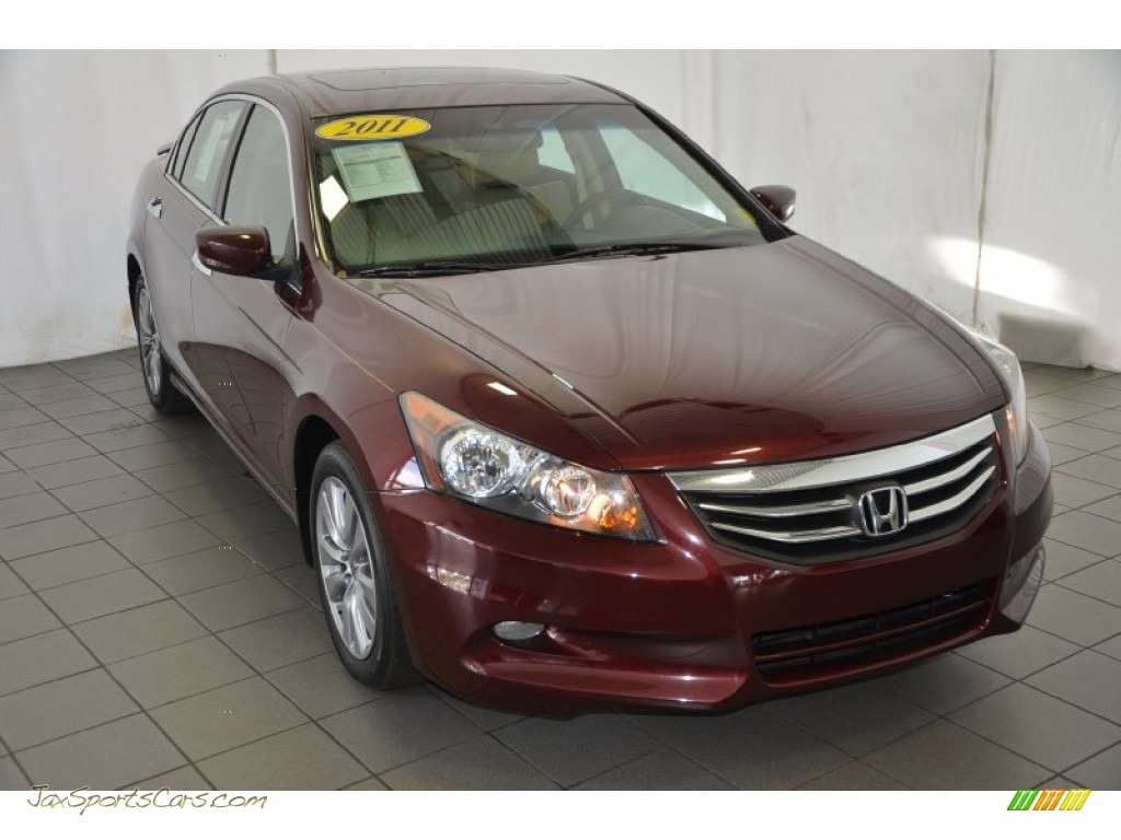 2011 Honda Accord Ex L V6 Sedan In Basque Red Pearl