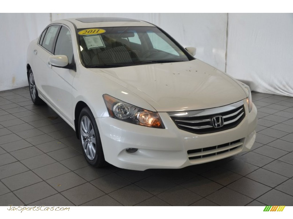 2011 Honda Accord Ex L V6 Sedan In Taffeta White 002529