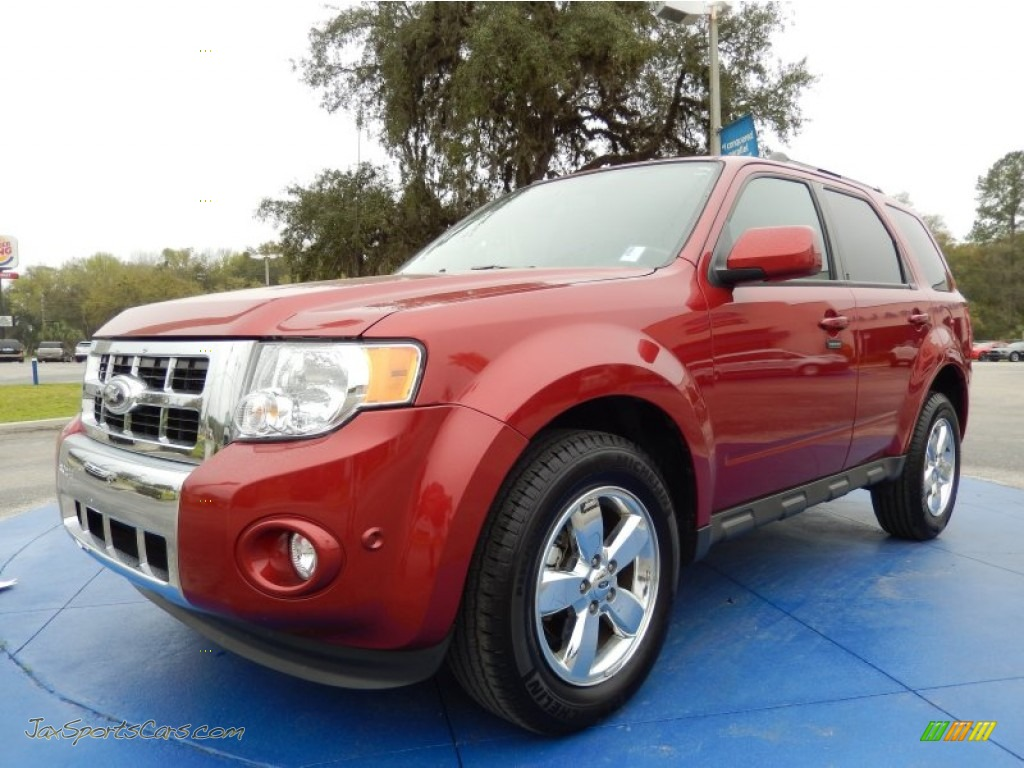 2012 ford escape limited v6 in toreador red metallic c76492 jax sports cars cars for sale. Black Bedroom Furniture Sets. Home Design Ideas