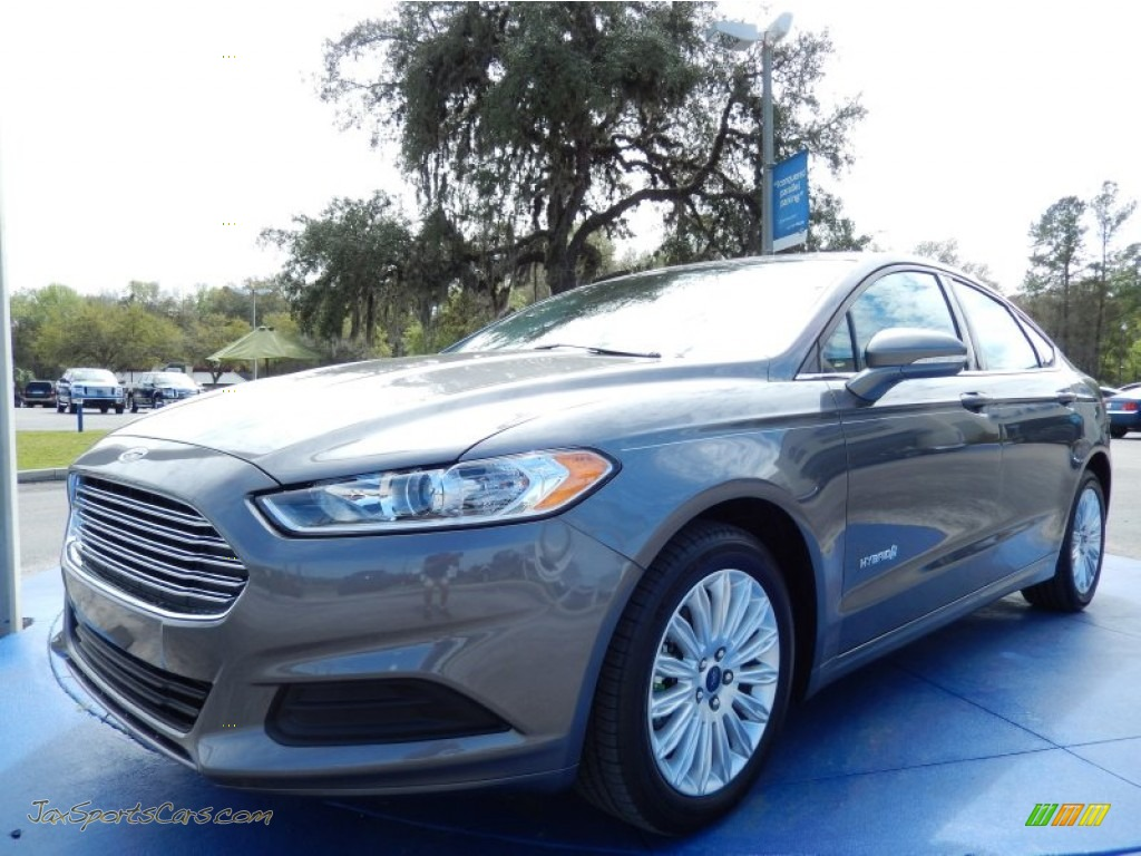 2014 ford fusion hybrid se in sterling gray 252358 jax sports cars cars for sale in florida. Black Bedroom Furniture Sets. Home Design Ideas