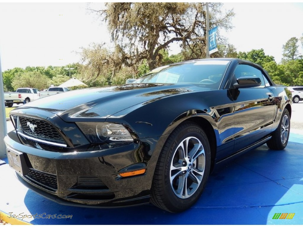 2014 ford mustang v6 premium convertible in black 243736 jax sports cars cars for sale in. Black Bedroom Furniture Sets. Home Design Ideas