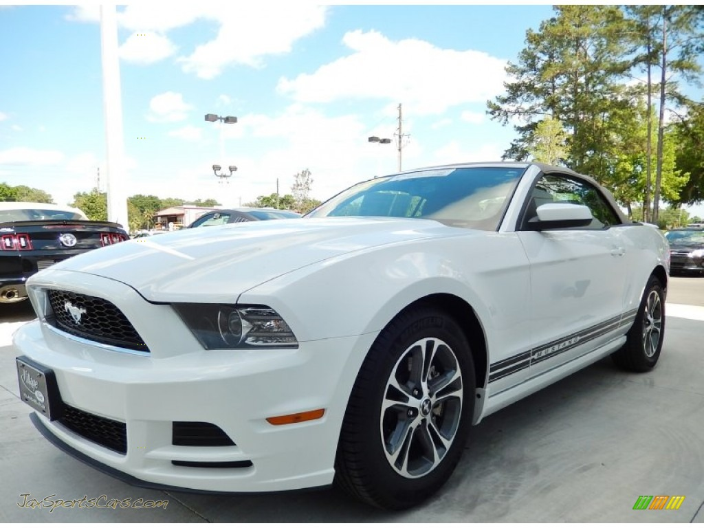 2014 ford mustang v6 premium convertible in oxford white 243593 jax sports cars cars for. Black Bedroom Furniture Sets. Home Design Ideas