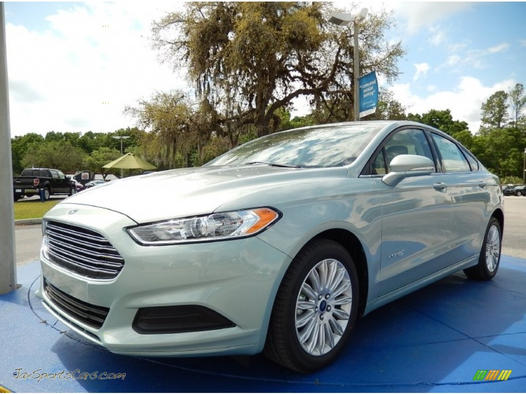 2014 ford fusion hybrid se in ice storm 252121 jax sports cars cars for sale in florida. Black Bedroom Furniture Sets. Home Design Ideas