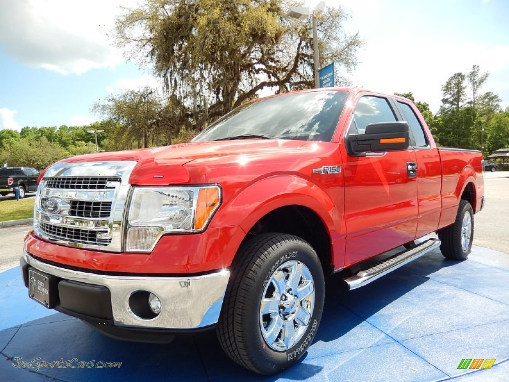 2014 ford f150 xlt supercab in race red b44030 jax sports cars cars for sale in florida. Black Bedroom Furniture Sets. Home Design Ideas