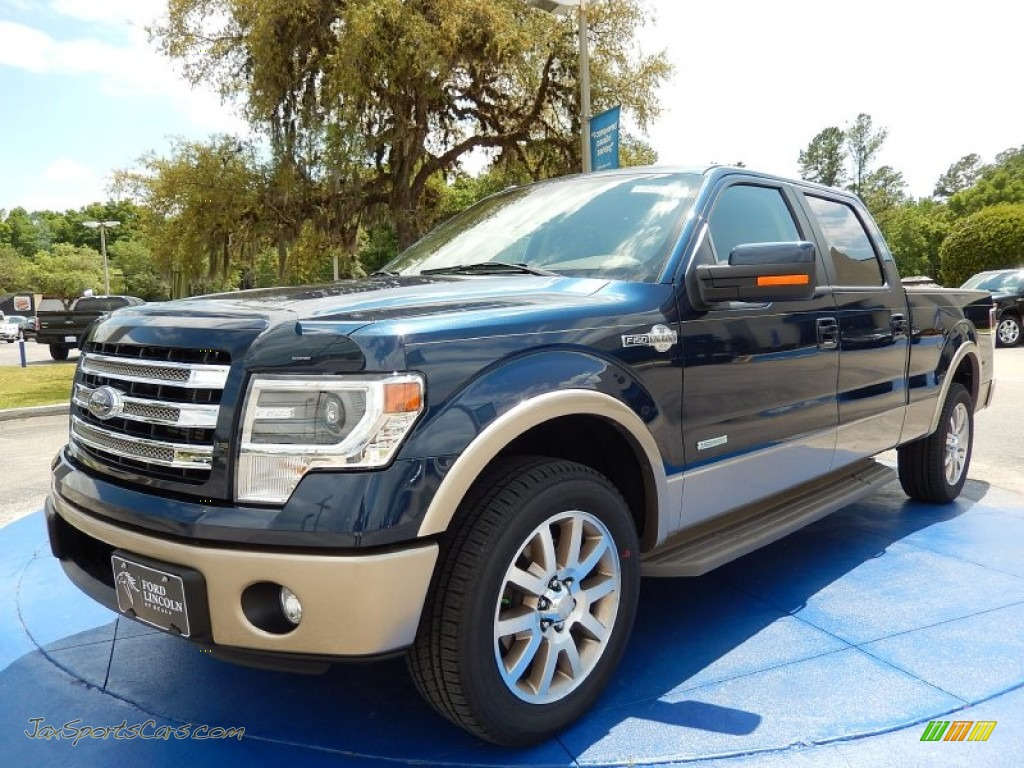 2014 ford f150 king ranch supercrew in blue jeans e04958 jax sports cars cars for sale in. Black Bedroom Furniture Sets. Home Design Ideas