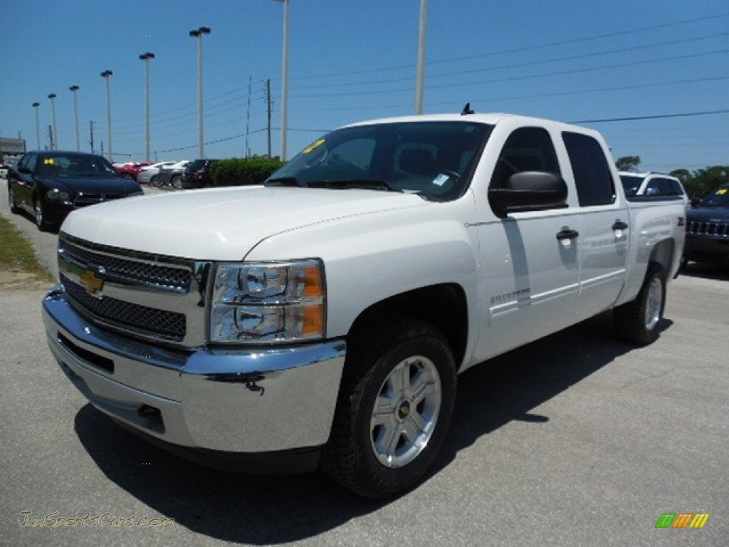 2012 chevrolet silverado 1500 lt crew cab in summit white 246313 jax sports cars cars for. Black Bedroom Furniture Sets. Home Design Ideas