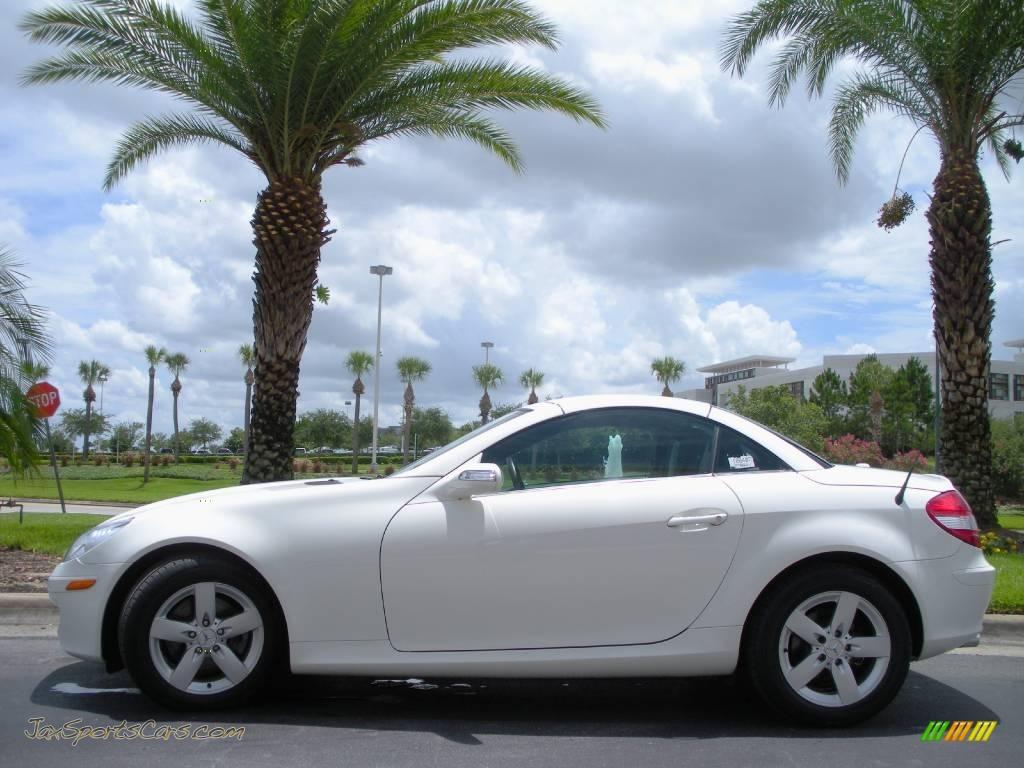 2006 mercedes benz slk 280 roadster in alabaster white 128271 jax sports cars cars for. Black Bedroom Furniture Sets. Home Design Ideas