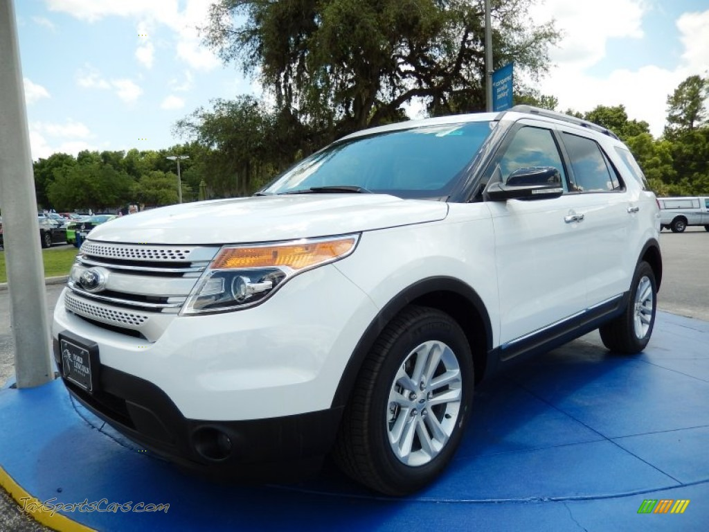 2014 ford explorer xlt in oxford white c45198 jax sports cars cars for sale in florida. Black Bedroom Furniture Sets. Home Design Ideas