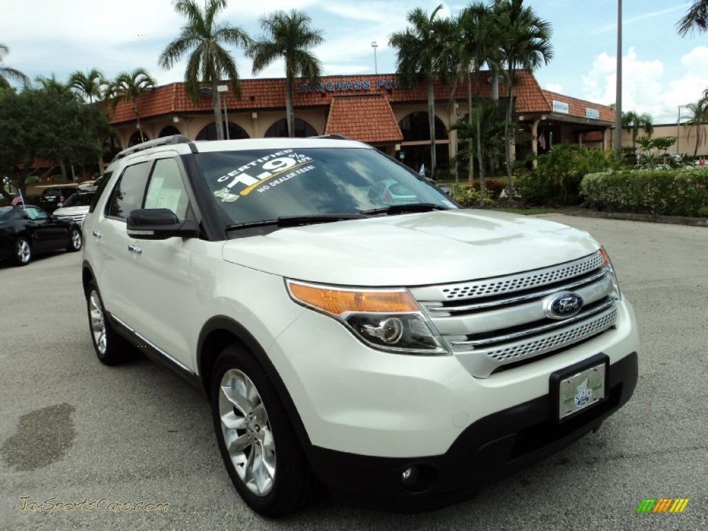 2014 ford explorer xlt in white platinum a11557 jax sports cars cars for sale in florida. Black Bedroom Furniture Sets. Home Design Ideas