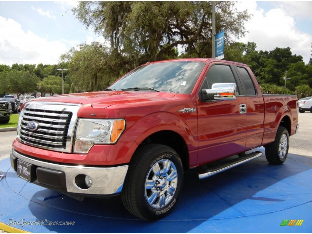 2010 ford f150 xlt supercab in red candy metallic d30413 jax sports cars cars for sale in. Black Bedroom Furniture Sets. Home Design Ideas