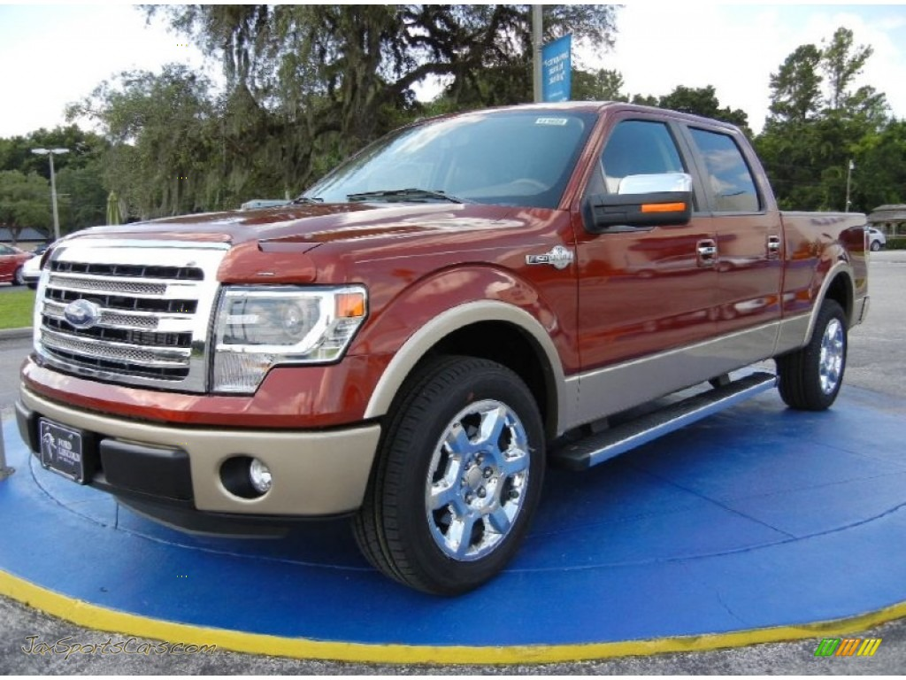 2014 ford f150 king ranch supercrew in sunset e29818 jax sports cars cars for sale in florida. Black Bedroom Furniture Sets. Home Design Ideas